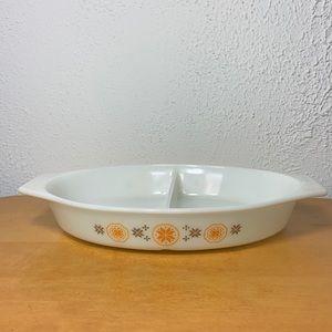 Pyrex ❄️ Vintage Milk Glass Divided Dish